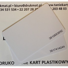 Karta zbliżeniowa Mifare 1k z numerem